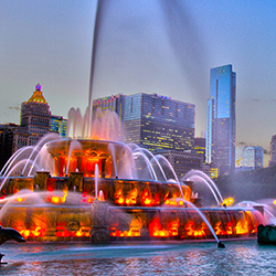 Buckingham Fountain, shot on location, Chicago, IL