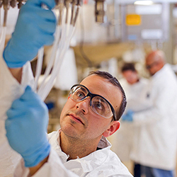 Pharmacogenetics manufacturing, shot on location, Devens, MA